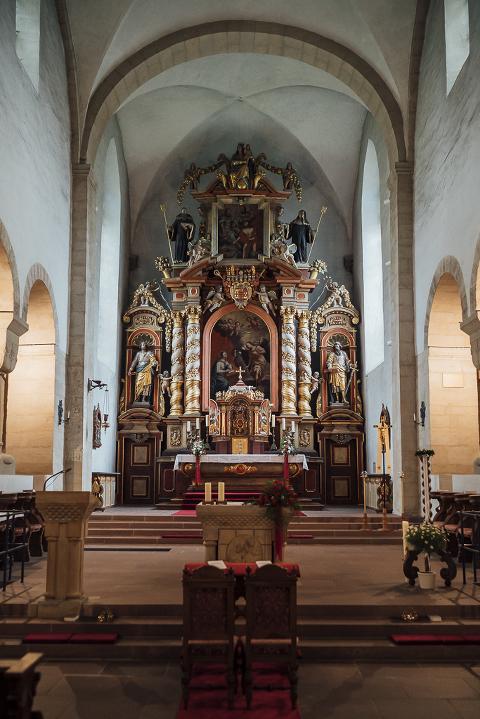 Rubinhochzeit, Schloss Gehrden, Klosterkirche, Innenansicht