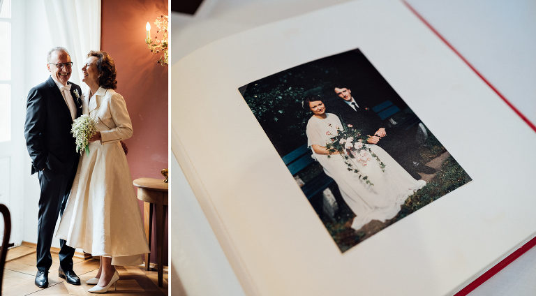 Heiraten in Ostwestfalen, Rubinhochzeit, Schloss Gehrden, Brautpaar